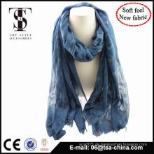 Blended Material weich fühlen Mode Schal mit Beflockung
