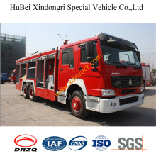 Camión de bomberos seco del polvo de 11ton HOWO Euro3