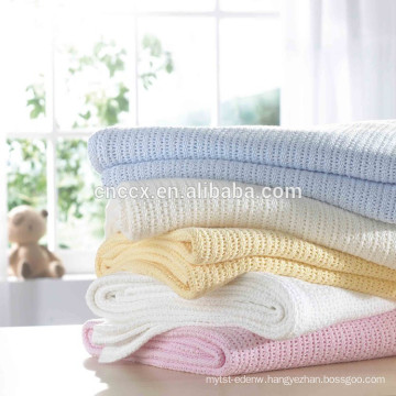 15PKBL04 2017 knitted cable pure cotton baby sleeping throw blanket