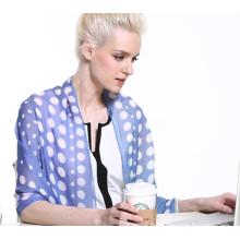 Mince chiffon en soie Impression numérique Grand sac à main oblong à la main Femme Shawl