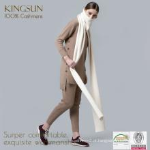Cashmere Knitting Scarf, cachecol cachemira puro, camisola feminina