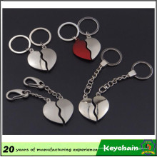 Pièce de coeur de cadeau promotionnel Keychain pour des amants