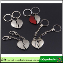 Promotional Gift Heart Part Keychain for Lovers