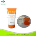 super oval white tube gloss plastic flexible tubes