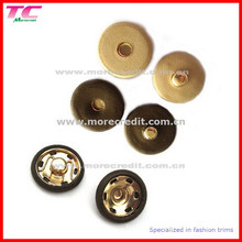 Leather Cover Brass Snap Buttons