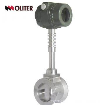 oil gasoline flowmeter hydraulic vortex flow meter with LED