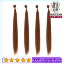 Silk Straight Brown Color Brazilian Human Hair Virgin Hair Remy Pre-Bonded Flat Tip Hair Extension