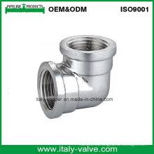 Codo de bronce pulido de calidad superior (AV-BF-8005)