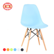 Elephant plastic chair beech wood leg chair for waiting room