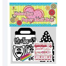 enfants bricolage remplissage dans des boîtes à colorier boîte à lettres floue