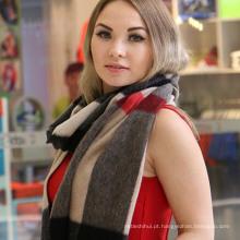 Novo design multi estilo senhora xales 100% cachecol de cashmere lenço de cashmere escocês atacado