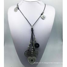Collier de fil de pierre coeur (XJW13769)