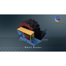 High Effect Wheel Bucket Type Mould Washing Machine With Sand