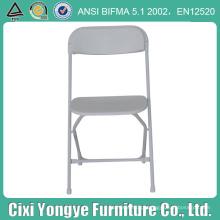 Cadeira de dobradura plástica poli branca com quadro revestido do pó
