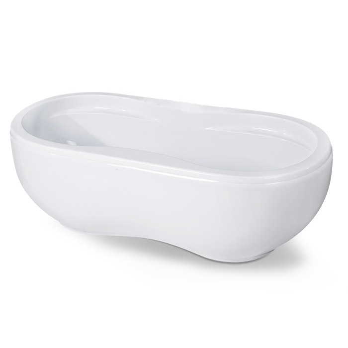 Peanut Shape Acrylic Bathtub in White
