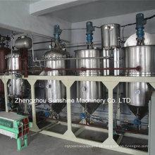 Planta de refinaria de óleo de soja mini refinaria de óleo de soja 1t / D