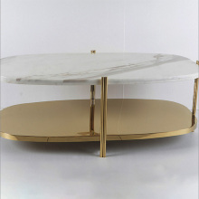 Double round corners rectangle coffee table