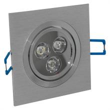 1*3W LED Square Indoor Ceiling Light