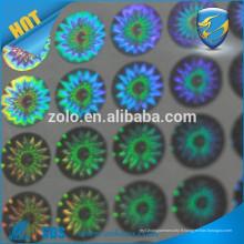 Adhésif solide Impression permanente holographique d'étiquettes en PET