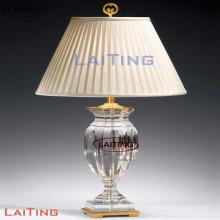 Lámpara de mesa de cristal con diseño de lámpara de mesa