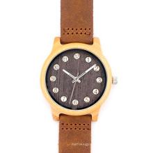 Nuevo reloj de moda de madera del movimiento del Japón de la protección del medio ambiente Bg454