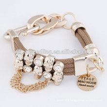 Punk women skeleton hand bracelet