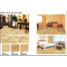 Wilton Broad Loom Jacquard Wool Hotel Carpet Roll