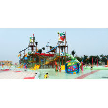 Outdoor Aqua Playground Water House Structures, Water Park Equipment Oem