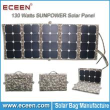 2017 Amazon vente chaude 130W sunpower pliant moins cher le panneau solaire