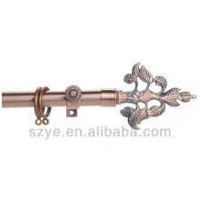 Metal decorative iron curtain rod for window treatment curtains pipes