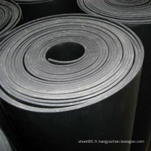 Feuille de caoutchouc d'insertion de tissu noir