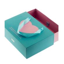 Blue Ribbon Handle Christmas Gift Paper Drawer Box