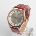 luxury wrist watches for men top layer cow leather strap watch rose gold