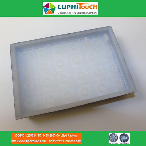 Laser Etching Backlighting Silicone Rubber Keyboard
