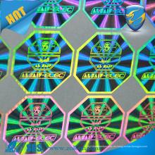 3D anti falso marca de protección buena PET OEM pegatinas adhesivas