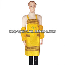100% cotton green dots printing design kitchen cooking bib apron