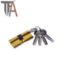 Cilindro de bloqueio aberto de dois lados com quatro chaves normais