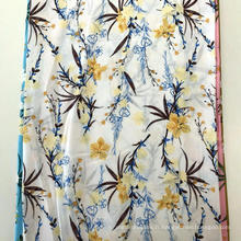 Rayon 45S Screen Print Flower Design Robe Femme