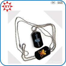 Black Mens Dog Tags with Custom Logo