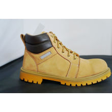 Up Ankle Yellow Steel Safety Toe Work Shoes For Man And Women