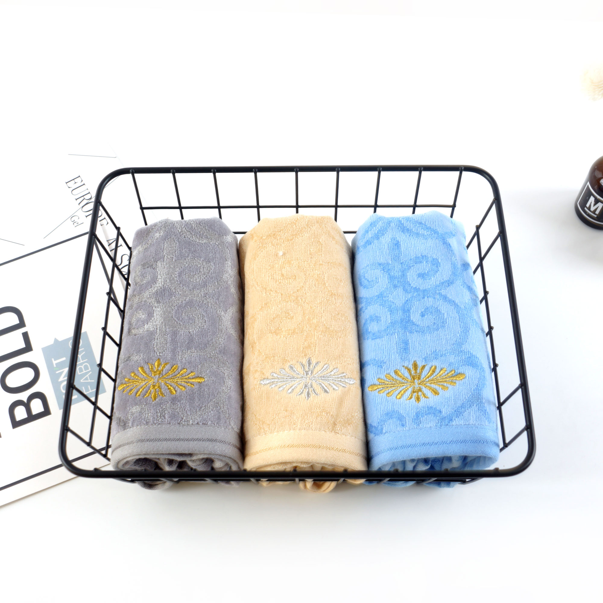 embroidery hand velvet towel