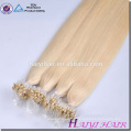 Alibaba Gros Remy Hight Grade Cheveux 2g micro anneau boucle cheveux extensions