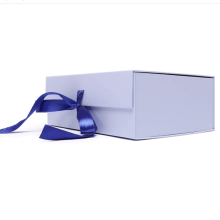 Foldable Gift Wrap Box with Lid and Ribbon