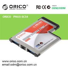 PNU3-EC54 Portátil USB 3.0 Express Card, USB 3.0 tarjeta de extensión para portátil