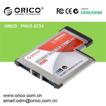 PNU3-EC54 Carte mémoire USB 3.0 Express USB, carte d'extension USB 3.0 pour ordinateur portable