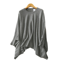 Women's cloak sweater 100% cashmere knitting fashion O neck Poncho pullovers