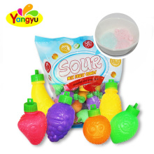 Assorted Flavor Fruity Shaped Sour Powder Candy