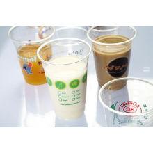 Hohe Qualität Getränke Verwendung Kunststoff Pet Cup für Saft