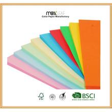 110GSM de gran tamaño de papel de papel de color profundo Scrapbooking