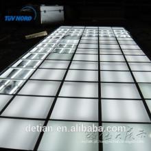 Novo sistema de piso de exposição de design, piso de madeira de iluminação piso platfrom